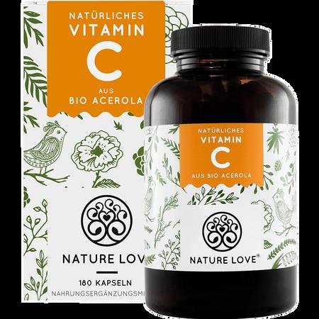 NATURE LOVE Vitamin C aus Bio-Acerola