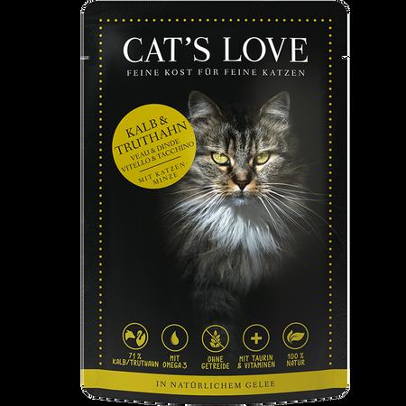 CAT´S LOVE Kalb & Truthahn Katzenfutter