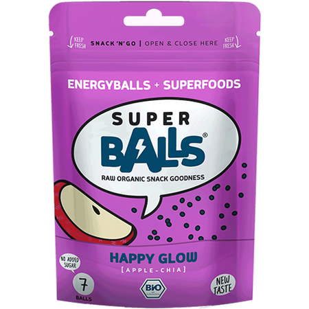 Super Balls Happy Glow Apple Chia Snack