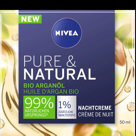 NIVEA Pure & Natural Nachtpflege