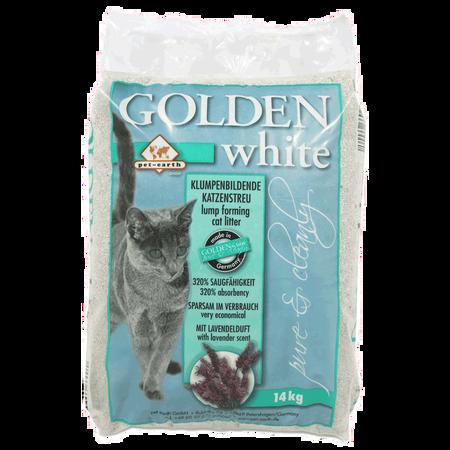 pet-earth Golden White Katzenstreu mit Lavendelduft