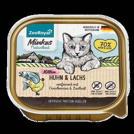ZooRoyal Minkas Naturkost Kitten Huhn & Lachs Katzenfutter