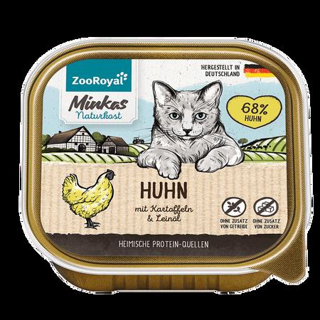 ZooRoyal Minkas Naturkost Adult Huhn mit Kartoffel Katzenfutter