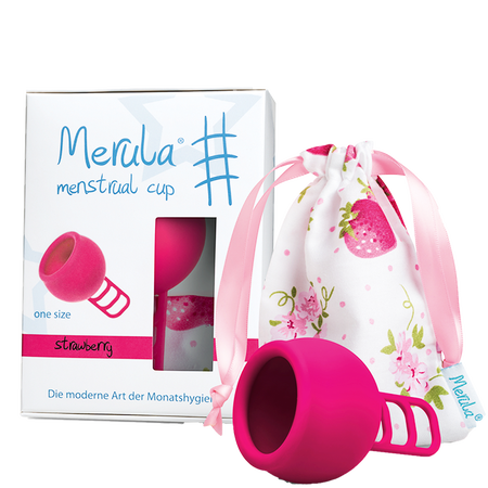 Merula Cup strawberry Menstruationstasse
