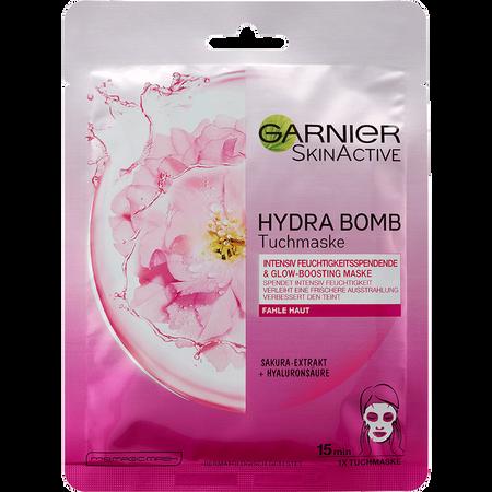 GARNIER Hydra Bomb Glow Boost Tuchmaske Sakura-Extrakt