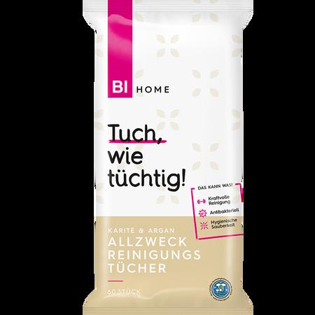 BI HOME Allzweck Reinigungstücher Karité & Argan