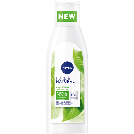 NIVEA Pure & Natural Reinigungsmilch