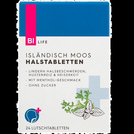 BI LIFE Isländisch Moos Halsschmerz Lutschtabletten