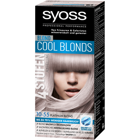 Bild: syoss PROFESSIONAL Cool Blonds platinum blond syoss PROFESSIONAL Cool Blonds