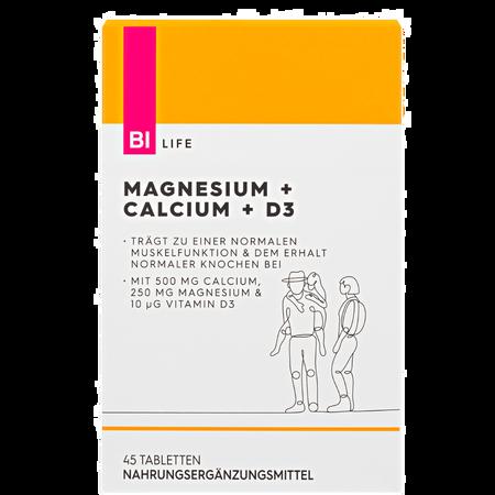 BI LIFE Magnesium + Calcium + D3 Tabletten