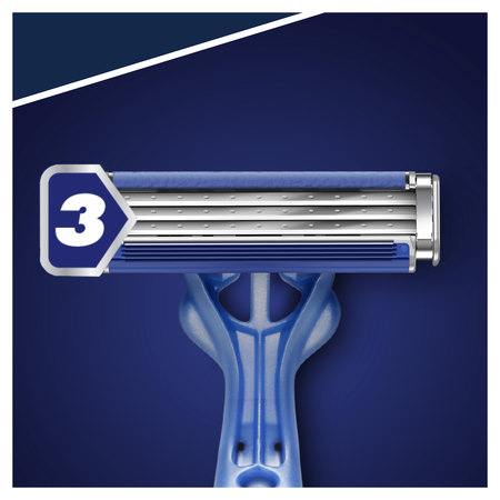 GILLETTE EINWEGRASIER. BLUE 3 SMOOTH 8+4
