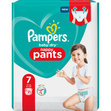 Pampers Baby-Dry Pants Gr. 7 (17+kg) Einzelpack