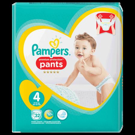 Pampers Premium Protection Pants Gr. 4 (9-15kg) Value Pack