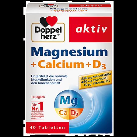 DOPPELHERZ Magnesium + Calcium + D3