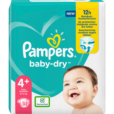 Pampers Baby-Dry Gr. 4+ (10-15kg) Einzelpack