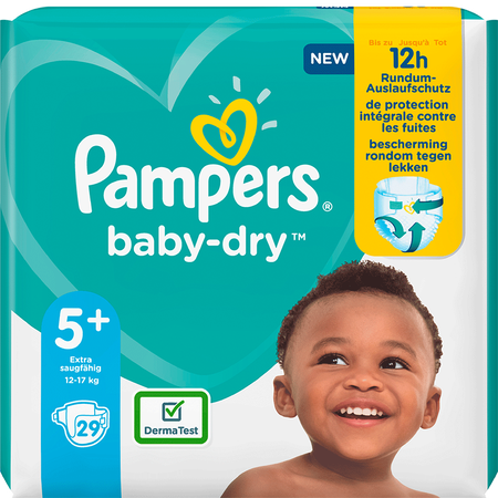 Pampers Baby-Dry Gr. 5+ (12-17kg) Einzelpack