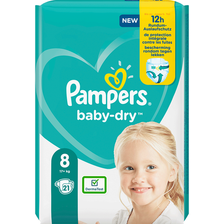 Pampers Baby-Dry Gr. 8 (17+kg) Einzelpack
