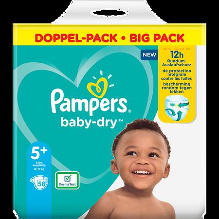 Pampers Baby-Dry Gr. 5+ (12-17kg) Doppelpack