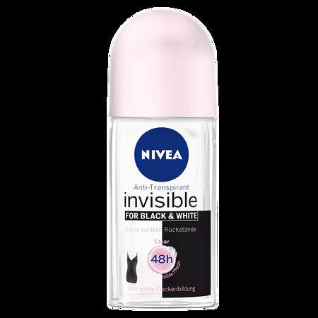 NIVEA Roll-on Invisible Black&White Clear