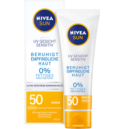 NIVEA Sun UV Gesicht Sensitive LSF 50 Sonnencreme