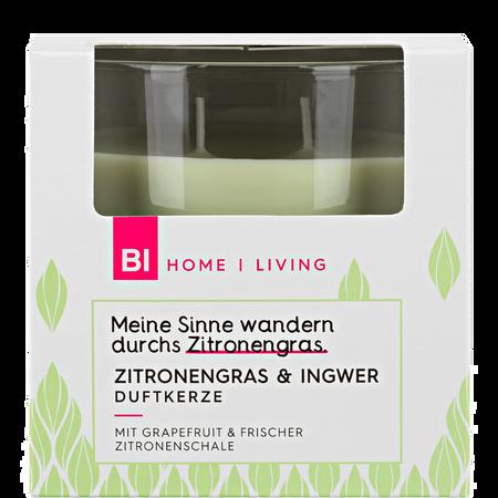 BI HOME Living Duftkerze Groß Zitronengras & Ingwer