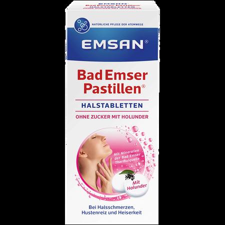 Emsan Bad Emser Pastillen ohne Zucker mit Holunder