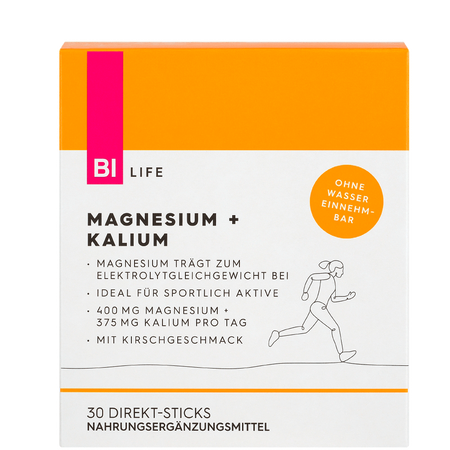 BI LIFE Magnesium + Kalium Direct Sticks