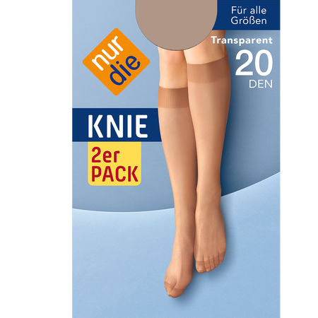 nur die Knie 2er Pack 20 DEN