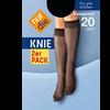 Bild: nur die Knie 2er Pack 20 DEN schwarz