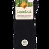 Bild: nur die Damen Bambus Komfort Socken schwarz