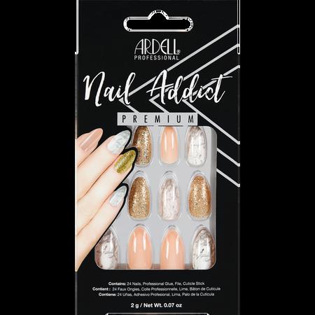 ARDELL Nail Addict Premium Kunstfingernägel Pink Marble & Gold
