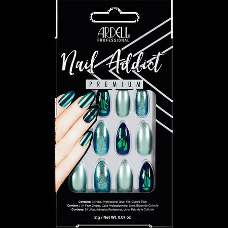 ARDELL Nail Addict Premium Kunstfingernägel Green Glitter Chrome