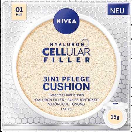 Bild: NIVEA Hyaluron Cellular Filler 3in1 Pflege Cushion hell NIVEA Hyaluron Cellular Filler 3in1 Pflege Cushion