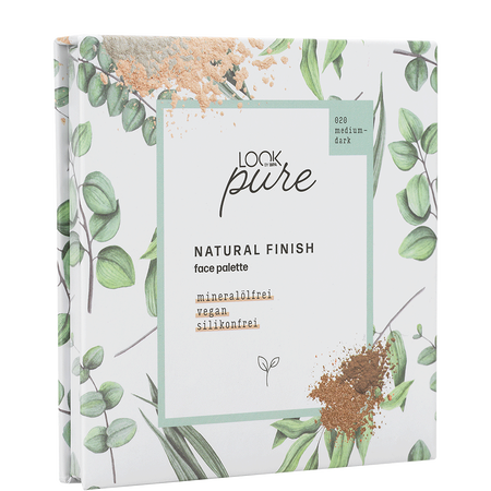 LOOK BY BIPA pure Natural Finish Face Palette medium dark