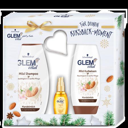 Schwarzkopf GLEM vital Weihnachtsset Spülung, Shampoo & Öl