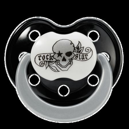 Rockstar Baby Schnuller Silikon Gr.2 Tatto-Pirat
