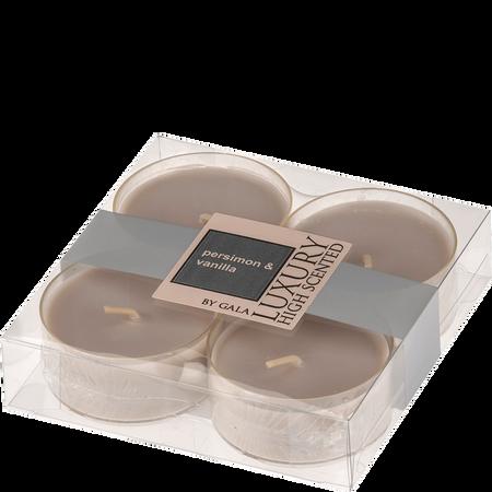 Gala Luxury Maxi Teelichter Persimon & Vanilla