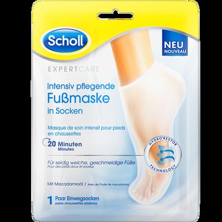 Scholl Intensiv pflegende Fußmaske in Socken