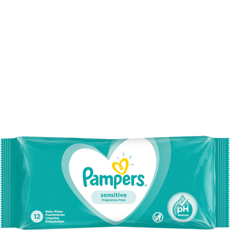 Pampers Feuchte Tücher Sensitive Travelpack