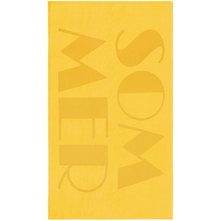 VOSSEN Badetuch Sommer Gelb