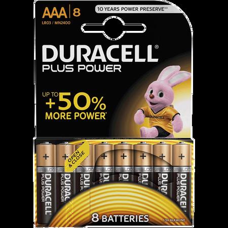 DURACELL Plus Power Alkaline AAA Batterien