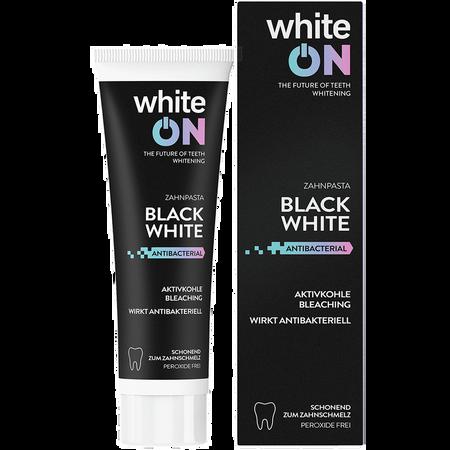 white ON Zahnpasta Black White Aktivkohle
