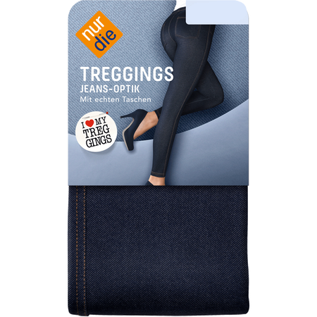 nur die Treggings in Jeans-Optik