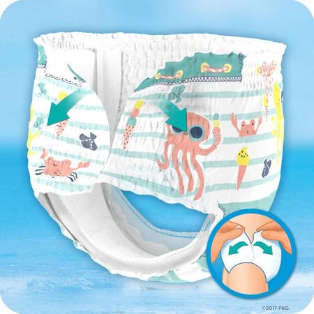 Pampers Splashers Größe3-4,   12Einweg-Schwimmwindeln