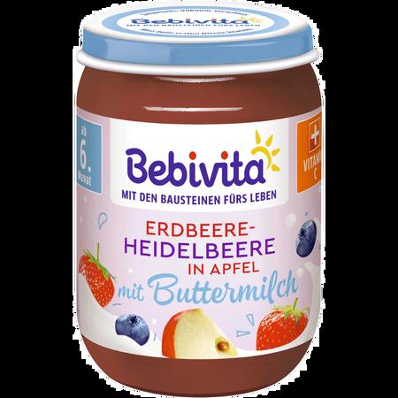 Bebivita Erdbeere und Heidelbeere in Buttermilch