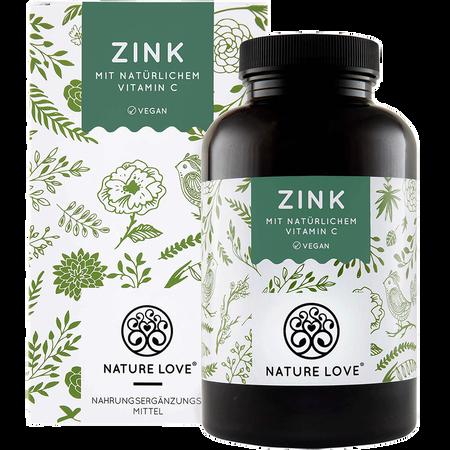NATURE LOVE Zink mit natürlichem Vitamin C