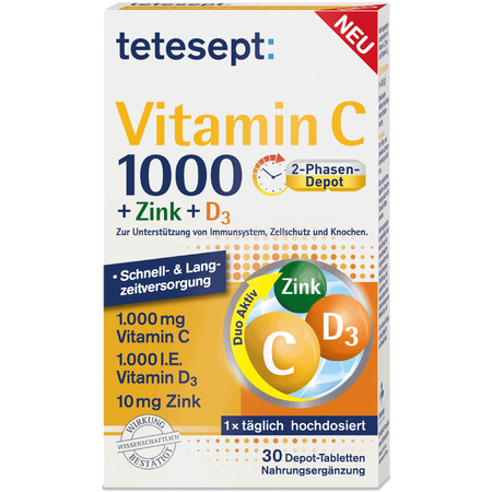 tetesept: Tetesept Vitamin C + Zink + D3