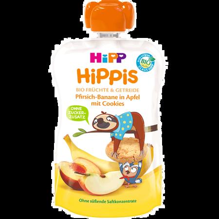HiPP HIPPIS Pfirsich-Banane in Apfel mit Cookies