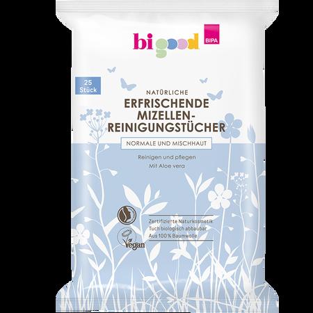 bi good Natürliche Erfrischende Mizellen-Reinigungstücher