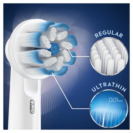 Oral-B Sensitive Clean Aufsteckbürsten mit   ultra-dünner Borsten-Technologie für unsere sanfteste Reinigung, 8Stück